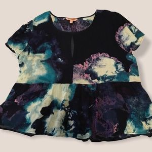 Juicy Couture Watercolor Chiffon Top